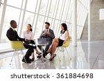group business meeting in... | Shutterstock . vector #361884698