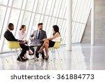 group business meeting in... | Shutterstock . vector #361884773