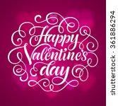 vector valentine's day... | Shutterstock .eps vector #361886294