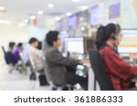 blurred call center of network... | Shutterstock . vector #361886333