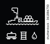 oil tanker vector barrel drop... | Shutterstock .eps vector #361886750
