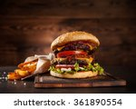 home made hamburger with... | Shutterstock . vector #361890554