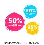 50   30    25  off marks   Shutterstock .eps vector #361891649