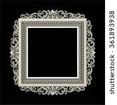 vector vintage border frame... | Shutterstock .eps vector #361893938