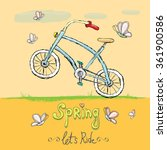 hello spring   let's ride... | Shutterstock .eps vector #361900586