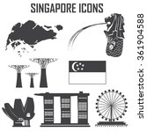 singapore icon set.   Shutterstock .eps vector #361904588
