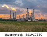 oil refinery factory in the...   Shutterstock . vector #361917980