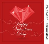valentines s day card. | Shutterstock .eps vector #361918769