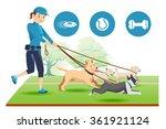 senior trainer have control her ...   Shutterstock .eps vector #361921124