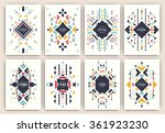 set of geometric abstract... | Shutterstock .eps vector #361923230