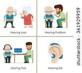 hearing loss   set of vector... | Shutterstock .eps vector #361929959