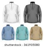 men's fleece sweater. vector... | Shutterstock .eps vector #361935080