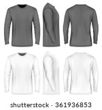 men's long sleeve t shirt ... | Shutterstock .eps vector #361936853