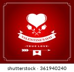 happy valentine's day greeting... | Shutterstock .eps vector #361940240