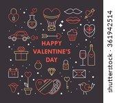 valentine's day modern card... | Shutterstock .eps vector #361942514