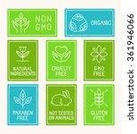 vector set of design elements ...   Shutterstock .eps vector #361946066