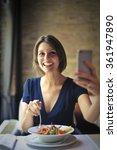 healthy salad | Shutterstock . vector #361947890