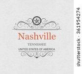 nashville tennessee.vintage...   Shutterstock .eps vector #361954274
