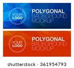 two horizontal polygonal banners | Shutterstock .eps vector #361954793