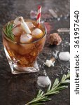 ice cold cocktail with coca... | Shutterstock . vector #361957640