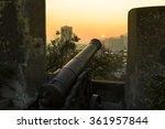 sunset at fortaleza do monte ... | Shutterstock . vector #361957844