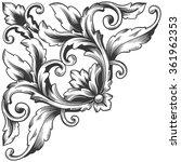 vintage baroque frame scroll...   Shutterstock . vector #361962353