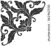 vintage baroque frame scroll... | Shutterstock . vector #361962530