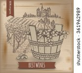 Vintage Wine Background With...