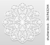 decorative flower   snowflake ... | Shutterstock .eps vector #361963244