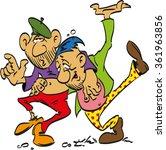 drunk men staggering in the... | Shutterstock .eps vector #361963856