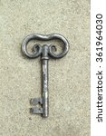 Old Baroque Key On Grey...