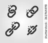 broken chain link icons symbols