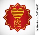 valentines day sale design  | Shutterstock .eps vector #361964819