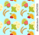 seamless pattern from cartoon... | Shutterstock .eps vector #361965500