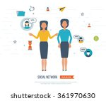 social network and teamwork... | Shutterstock .eps vector #361970630