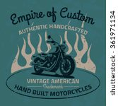 vintage motorcycle for printing ... | Shutterstock .eps vector #361971134