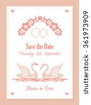 save the date. wedding... | Shutterstock .eps vector #361973909