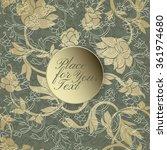 elegant floral card with golden ... | Shutterstock .eps vector #361974680