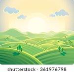 Natural Landscape  Sunrise Ove...