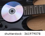 Black Electric Guitar And...