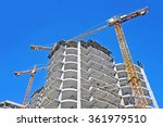 crane and building construction ... | Shutterstock . vector #361979510