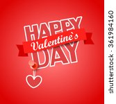 happy valentines day greeting... | Shutterstock .eps vector #361984160