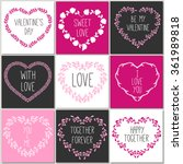 hand drawn cute cards with love ... | Shutterstock .eps vector #361989818