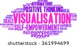 visualisation word cloud on a... | Shutterstock .eps vector #361994699