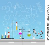 chemical laboratory science and ... | Shutterstock .eps vector #361999778
