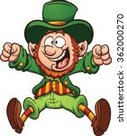 Happy Cartoon Leprechaun....