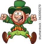 Happy Cartoon Leprechaun....