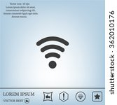 wi fi  web icon. vector design | Shutterstock .eps vector #362010176