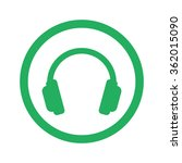 flat green headphones icon and... | Shutterstock .eps vector #362015090