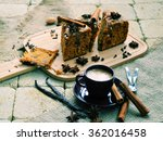 coffee break  coffee and cake...   Shutterstock . vector #362016458